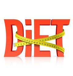 Diet with measuring tape vector image