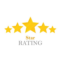 gold stars rating vector image
