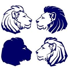 lion icon sketch collection cartoon vector image vector image