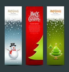 Merry Christmas banner design set vector image vector image