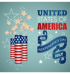 4 july Independence Day festive background vector image