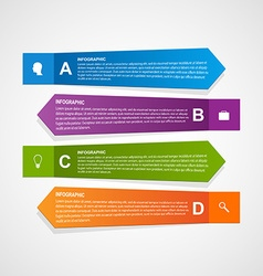 Abstract paper infographic template vector image vector image