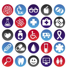 medical icons and signs vector image
