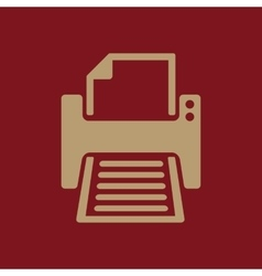 The printer icon printing symbol flat vector