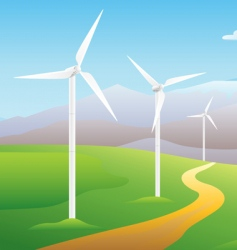 wind turbines vector image