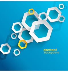Abstract blue background with place for your text vector image
