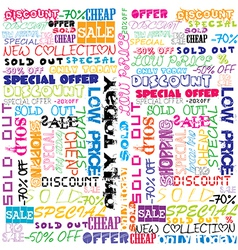 Background with colored sales and sold vector image vector image