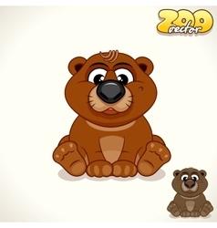 Cartoon Bear Character vector image vector image