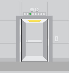 elevator with opened door vector image