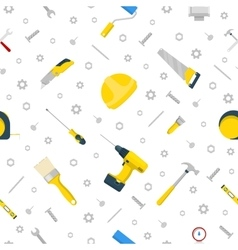 Home Repair and Renovation Tools Seamless Pattern vector image vector image