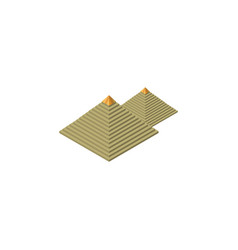 isolated pyramids isometric egypt elemen vector image vector image