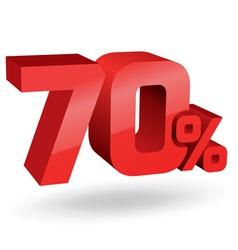 70 percent digits vector image