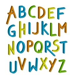 children font Colorful alphabet Letters vector image
