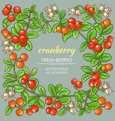 cranberry frame vector image