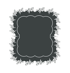 decorative blank label vector image