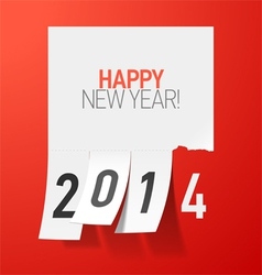 Happy New Year 2014 greetings vector image vector image