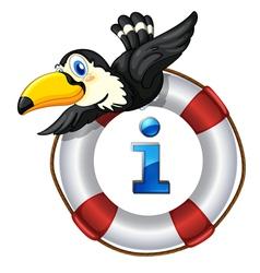 Pelican Kiosk Sign vector image