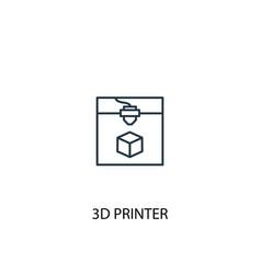 3d printer concept line icon simple element vector