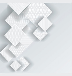 Abstract geometric shape from gray rhombus vector