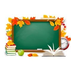 Back to school chalk board vector