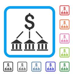 Bank association framed icon vector