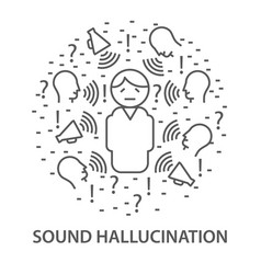 Banners for sound hallucination vector