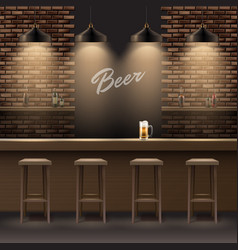 Bar pub interior vector