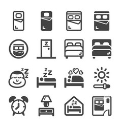 bedroom icon vector image