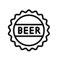 Beer bottle cap feast of saint patrick line icon vector