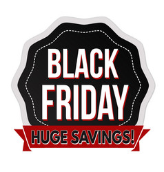 black friday label or sticker vector image