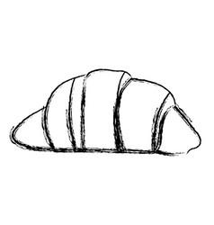 Blurred silhouette croissant bread food icon vector