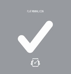 check symbol - flat minimal icon vector image
