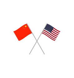 china and usa flags vector image