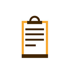 clipboard document list business strategy icon vector image