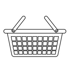 clothes basket icon outline style vector image