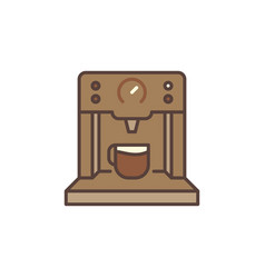Coffee machine concept brown modern icon vector