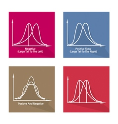 Collection of 4 Positve and Negative Distribution vector image