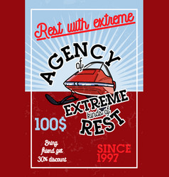 Color vintage agency of extreme banner vector