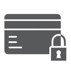 Credit card security glyph icon e commerce vector