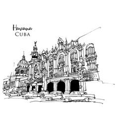 Drawing sketch havana vector