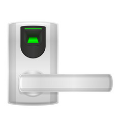 electronic lock with handle knob and electric vector image