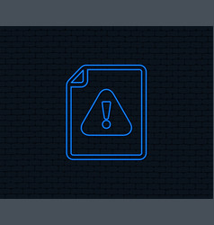 file attention sign icon exclamation mark vector image