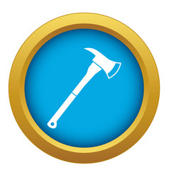firefighter axe icon blue isolated vector image