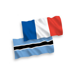 Flags france and botswana on a white background vector