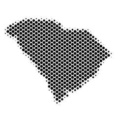 Halftone dot south carolina state map vector
