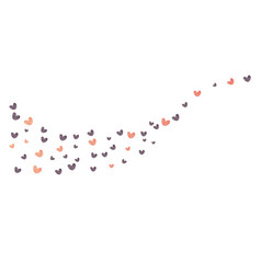 heart confetti of valentines petals falling vector image
