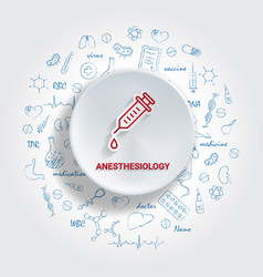 icons for medical specialties anesthesiology vector image