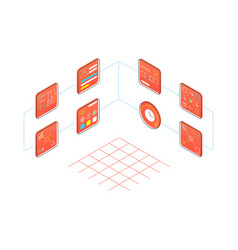infographic creating a projec isometric style vector image