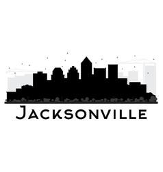 jacksonville city skyline black and white vector image