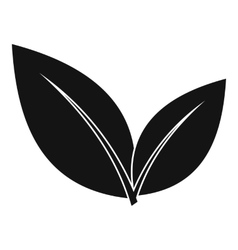Leaf icon simple style vector